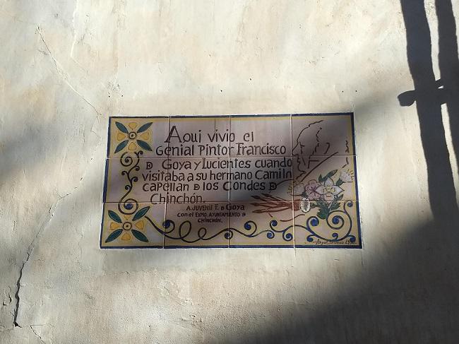 Chinchón-Goya-emléktábla